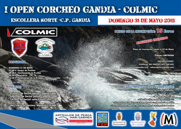 Cartel Open Gandia-Colmic